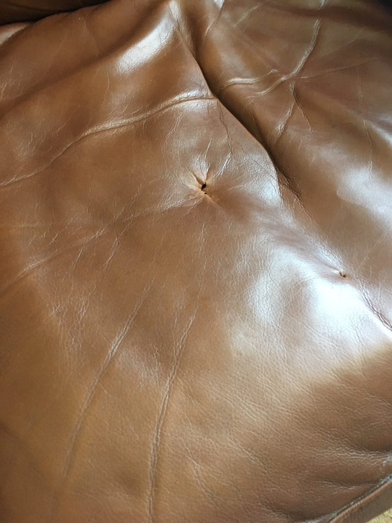 holes in leather repaired